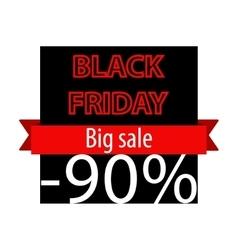 Black friday offer banner template vector