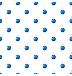 blue christmas ball pattern vector image vector image
