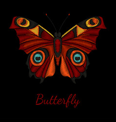 Butterfly embroidery vector
