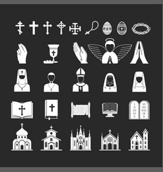 christianity religion religionism flat vector image