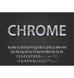 chrome metallic font vector image