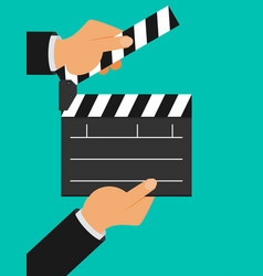 cinema lights camera action flat vector image