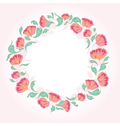 Circle of flowers vector image