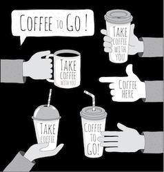 Coffee to go set vector