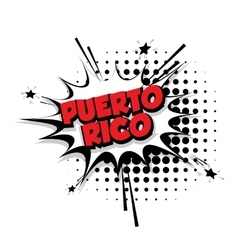 Comic text puerto rico sound effects pop art vector