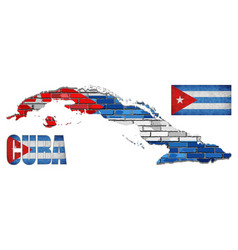 cuba flag elements collection vector image