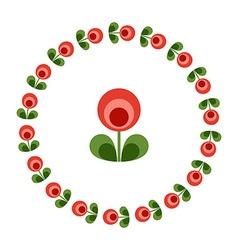 Design elements - round floral frame flower icon vector image vector image