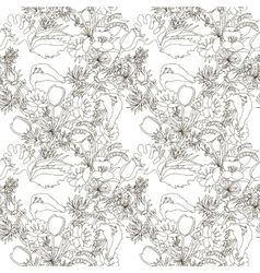 Floral seamless pattern with wildflowers vector image