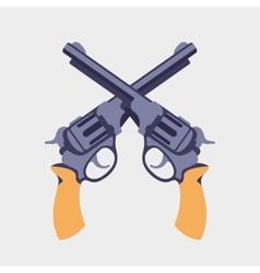 Guns flat vector