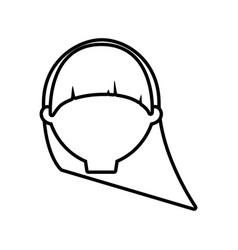 head female woman thin line vector image vector image