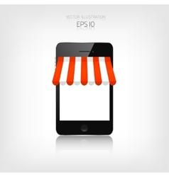 Internet shopping concept realistic smartphone e vector