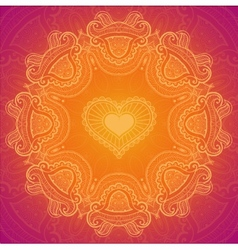 Lace greeting card for Valentine day vector image