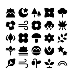 Nature icons 7 vector