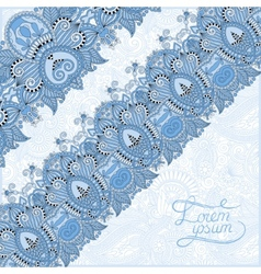 Ornamental background with blue colour flower vector