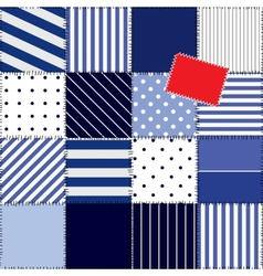 patchwork pattern in nautical style vector image