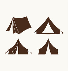 set of tents for logo vector image