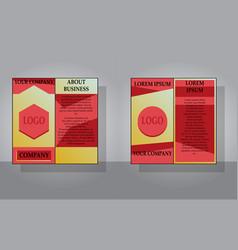 Set of white business brochure and leaflet flyer vector