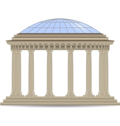 stone rotunde vector image vector image