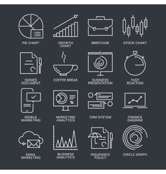 Thin line marketing icons set vector