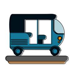 Tuk tuk or rickshaw icon image vector