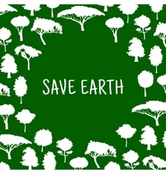 Save nature symbol with trees for eco design vector