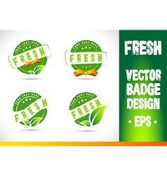 Fresh badge logo vector
