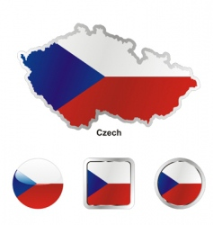 Czech flag vector