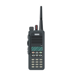 Modern portable handheld radio device vector
