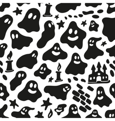 Ghosts - seamless background vector