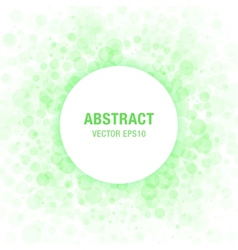 Green abstract circle frame vector