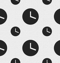 Mechanical clock icon sign seamless pattern with vector