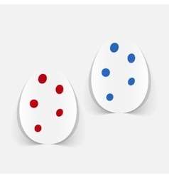 Realistic design element easter egg vector