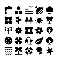 Nature icons 8 vector