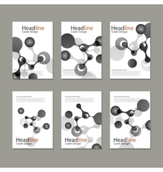 Abstract molecular structure cover vector
