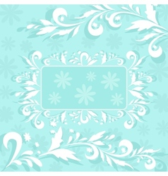 Background flowers and frame vector