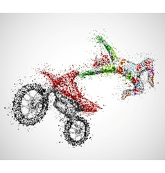 Abstract biker vector image vector image