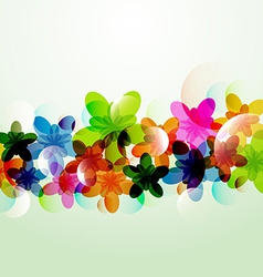 Abstract colorful background flowers shapes vector