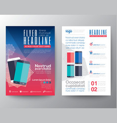 Abstract design template layout flyer brochure vector