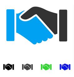 acquisition handshake flat icon vector image