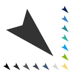 Arrowhead right-down icon vector