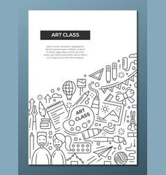 art class - line design brochure poster template vector image vector image