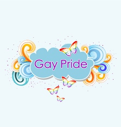 Butterfly over the rainbow gay pride vector image vector image
