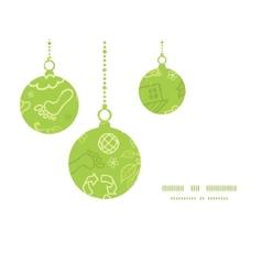 Environmental christmas ornaments silhouettes vector