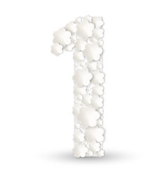 figure one made of white flowers vector image