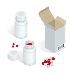 Modern pill bottle for pills or capsules Isolated vector image