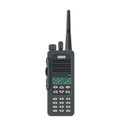 Modern portable handheld radio device vector
