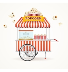 Pop Corn Street Vendor Mobile Store vector image