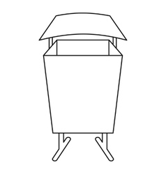 Public dust bin icon outline style vector