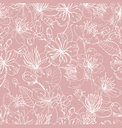 romantic natural seamless pattern with beautiful vector image vector image