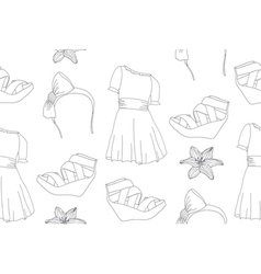seamless cute fashion pattern vector image vector image